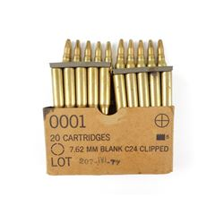 7.62MM BLANKS ON STRIPPER CLIPS