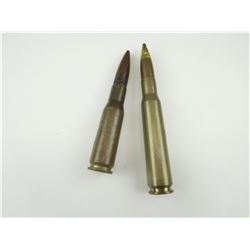 1965 U.S. MILITARY .50 DEACTIVATED AMMO, 1959 .50 BMG CARTRIDGE