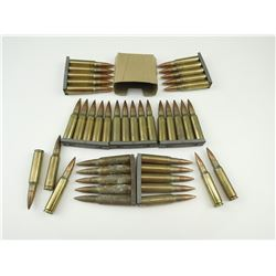 7.62 NATO AMMO ON STRIPPER CLIPS