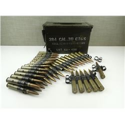 50 MM BMG AMMO, 50MM BMG DUMMIES, METAL AMMO TIN