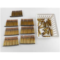 223 REM AMMO ON STRIPPER CLIPS, BLANKS