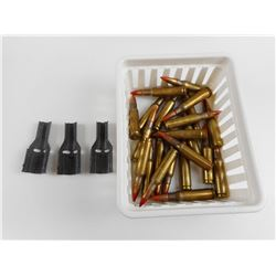 308 TRACER AMMO ASSORTED, WITH CLIPS