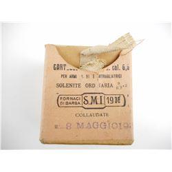 ITALIAN 6.5 CARCANO AMMO AND CLIPS, BRASS