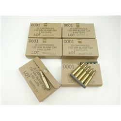 7.62 MM BLANKS ON STRIPPER CLIPS