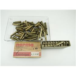 30-30 WIN BRASS CASES, 6.5 X 54 MS MANNLICHER BRASS, 6.5 JAPANESE BRASS CASES