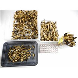 BRASS CASES ASSORTED, INCLUDING 38 SPL, 6.2, 30-30 WIN, 45 AUTO, 308 WIN