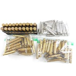 BRASS CASES ASSORTED INCLUDING, 270, 30-06, 7MM MAG