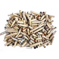 BRASS CASES ASSORTED INCLUDING 44 MAGNUM, 44 S&W, 308, 38 SPL, 303 BRIT,