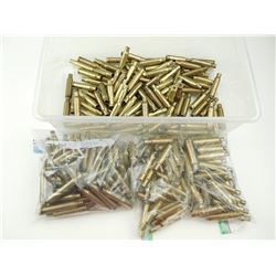 RIFLE BRASS CASES ASSORTED, INCLUDING 30-06, 25-06, 308 WIN, 30 REM, 284 WIN