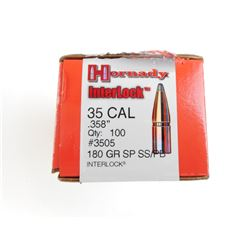HORNADY INTERLOCK 35 CAL BULLETS