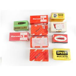 45 CAL, 270 CAL, 32 CAL, 7MM CAL, 457 CAL, ASSORTED BULLETS,