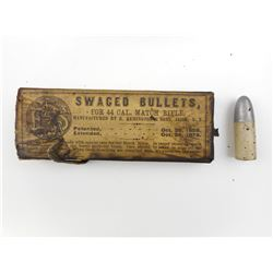 REMINGTON .44 SWAGED BULLETS FOR MATCH RIFLE