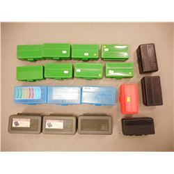 ASSORTED AMMO PLASTIC BOXES