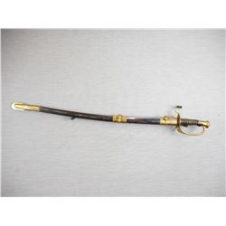 REPRODUCTION CONFEDERATE SWORD WITH STEEL SCABBARD
