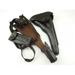 ARTILLERY LUGER SHOULDER STOCK/HOLSTER WITH HARNESS