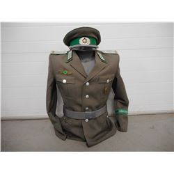 EAST GERMAN TYPE UNIFORM ON MANNEQUIN