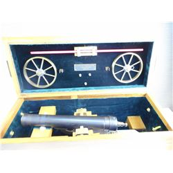 REPRODUCTION CANNON IN GENERAL ELECTRIC WOODEN BOX