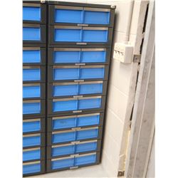 BLUE AND GREY TOOL CABINET