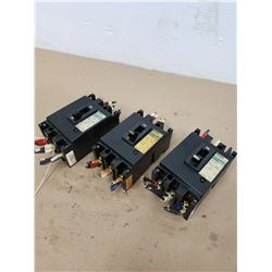 (3) Fuji Electric EA53 Circuit Breakers
