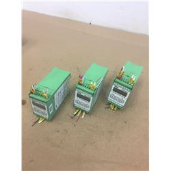 (3) Phoenix Contact MCR-f-UI-DC 3 Way Programmable Universal Frequency Transducer