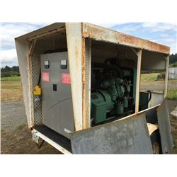 GMC DIESEL WESTINGHOUSE GENERATOR 110 VOLT-220 VOLT (PLUS 230 VOLT-3 PHASE) WITH POWER CORD