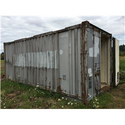 20' SEACAN STORAGE CONTAINER WITH LINED INTERIOR