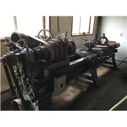 R.K LEBLOND METAL LATHE OHIO USA COMPLETE WITH ROLLING RACK UNIT OF PARTS & ACCESSORIES