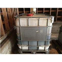 1000 L CAPACITY PLASTIC CAGED USED OIL CONTAINER