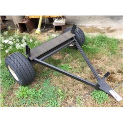 SMALL 2 WHEEL STEEL CONSTRUCTED YARD TRAILER