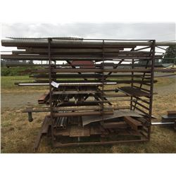 ROLLING MATERIAL RACK FILLED WITH ASSORTED STEEL
