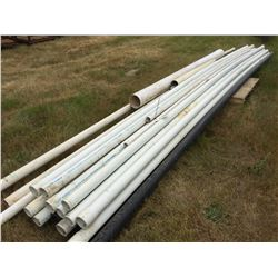 SKID LOT OF ASSORTED PVC PIPE