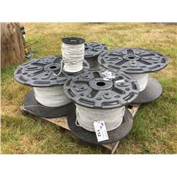 5 SPOOLS OF ELECTRIC FENCE WIRING
