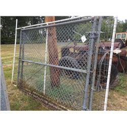2 6' X9' CHAIN LINK GATES & 1 PANEL