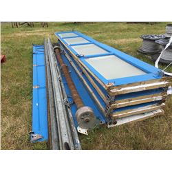 12' W X 14' H ROLL UP SHOP DOOR SET WITH TRACK