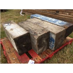4 LARGE TIMBER BLOCKS