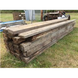 SKID LOT OF ASSORTED  FIR TIMBER PLANKS