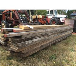 SKID LOT OF MAINLY FIR TIMBER PLANKS