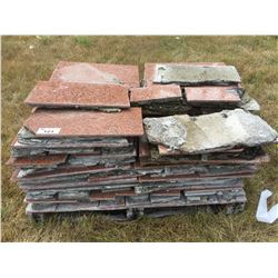 PALLET LOT OF PREVIOUSLY USED GRANITE TILE