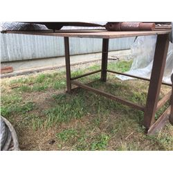 APPROX 5'X6' STEEL WORK TABLE