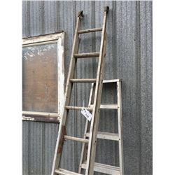 16' ALUMINUM EXTENSION LADDER & 1/2 OF A STEP LADDER