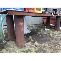 APPROX 4'X12' STEEL WORK TABLE