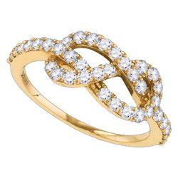 0.71 CTW Diamond Infinity Love Anniversary Ring 10KT Rose Gold - REF-52N4F