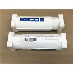 (2) SECO L218 20 1632 RE 28 INDEXABLE END MILL