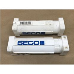 (2) SECO L218 20 1225 RE 22 INDEXABLE END MILL