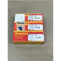 (30) SANDVIK RCGX 43 1025 CARBIDE INSERT