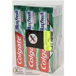 LOT OF 6 COLGATE MAXFRESH TOOTHPASTE, 150ML EACH