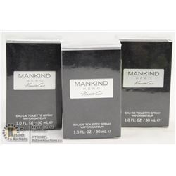 LOT OF 3 KENNETH COLE MANKIND HERO EAU DE TOILETTE