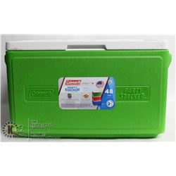 COLEMAN GREEN PARTY STACKER COOLER
