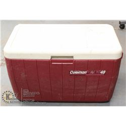 COLEMAN RED POLYLITE 48 COOLER