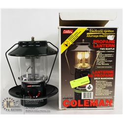 COLEMAN ELECTRONIC IGNITION PROPANE LANTERN IN BOX